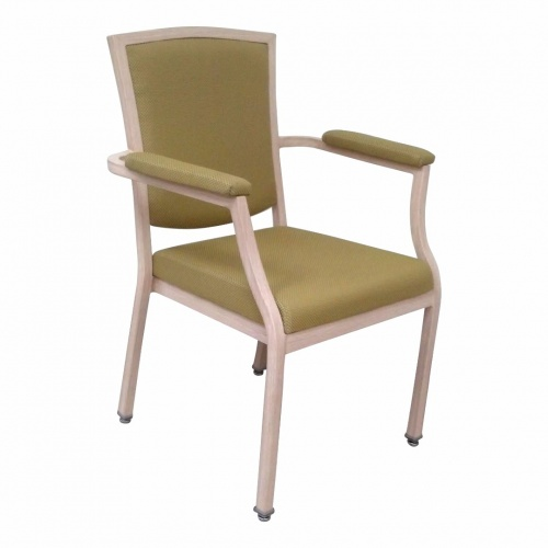 8674-1 Aluminum Stacking Arm Chair